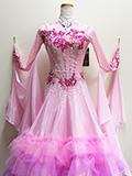 社交ダンスドレス:石が輝くピンクのドレス 172107111213