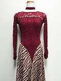 ワインレッドのドレス 1505203