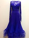 青紫のドレス