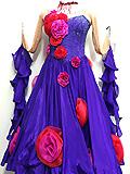 花飾りの青紫ドレス 152107006733