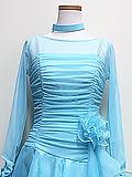 水色のコサージュドレス 1605167