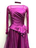光沢のある紫ピンクのドレス 1505208