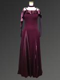 紫のシックなドレス