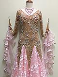 ベージュとピンクの石付きドレス 152107287203