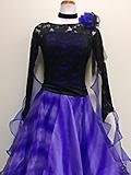 黒と青紫のドレス 1509134