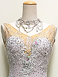 石が輝くツートンカラーのドレス 1A1704-WS0191