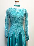 青緑のドレス 105157
