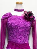 社交ダンスドレス:陰影のある花柄ドレス1609015