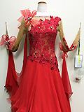 赤い花のドレス 152127011103